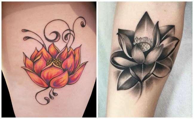 Dos tatuajes flores de loto