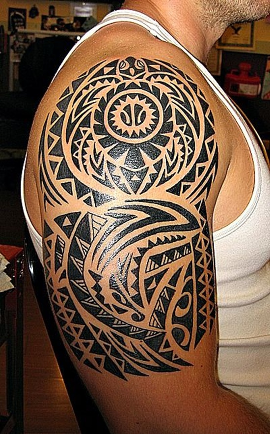 Tatuaje tribal brillante