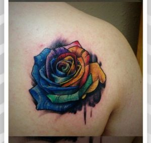 50+ Best Red Rose and Yellow Rose Tattoos and their meanings 36