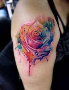 50+ Best Red Rose and Yellow Rose Tattoos and their meanings 37