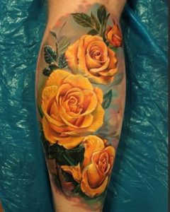 yellow rose tattoo designs