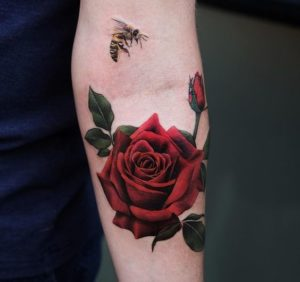 50+ Best Red Rose and Yellow Rose Tattoos and their meanings 1