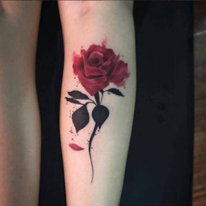 50+ Best Red Rose and Yellow Rose Tattoos and their meanings 2