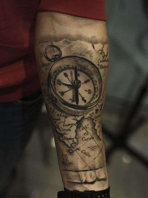 Tatuaje de brújula 3
