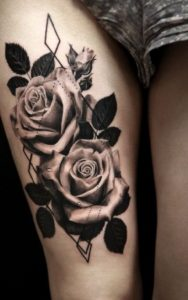 50+ Best Red Rose and Yellow Rose Tattoos and their meanings 17