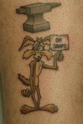 Funny tattoos: the coyote