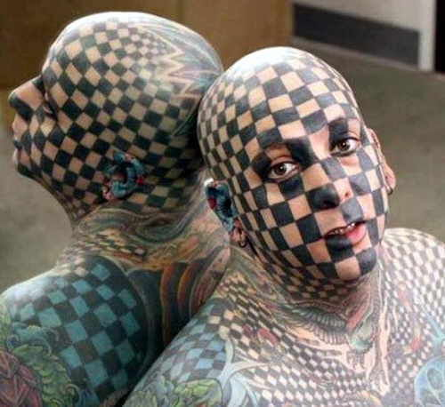 Funny tattoos: face graph