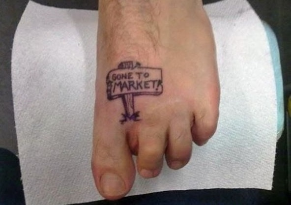 Funny tattoos: Gone to Market