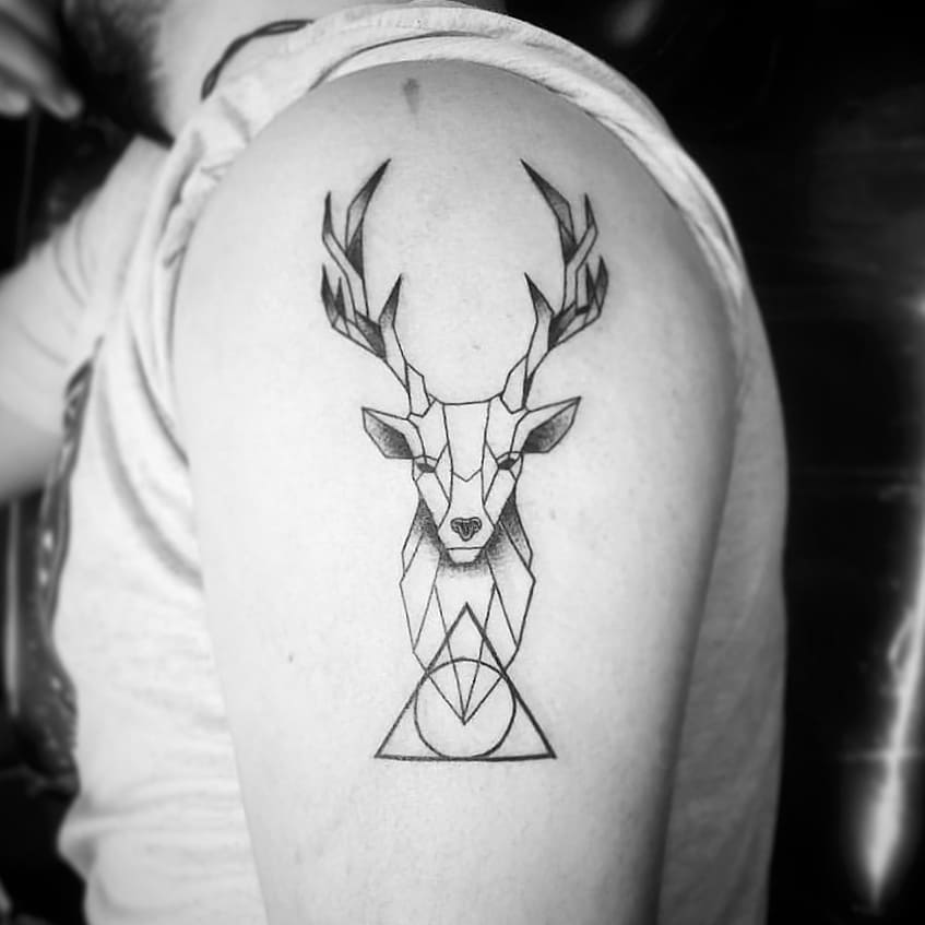 Tatuaje de venado Harry Potter