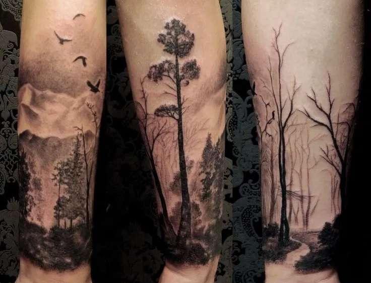 Tatuaje de bosques