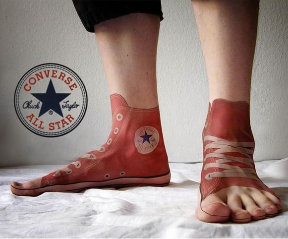 Tatuajes 3D: Converse All Star